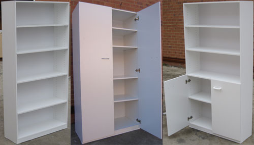 Bookcases: normal, half-door and full-door