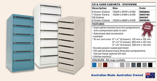 CD & Card Cabinets