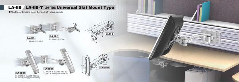 Monitor universal slat mount